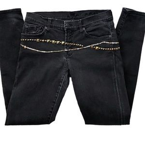 7 For All Mankind Gwenevere Studded Skinny 30